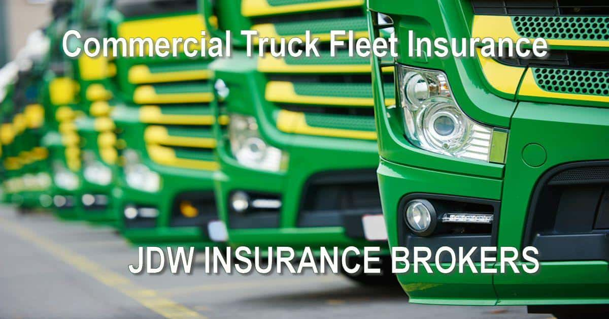 Commercial Truck Fleet Insurance Policy